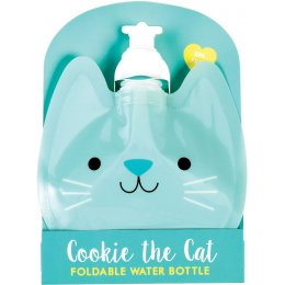 Cookie the Cat Reusable Folding Water Bottle - 350ml