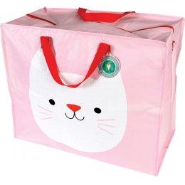 Recycled Jumbo Storage Bag - Cookie the Cat