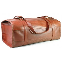 Elvis & Kresse Reclaimed Firehose Overnight Bag - Red