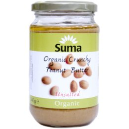 Suma Peanut Butter - Crunchy - Unsalted - 340g