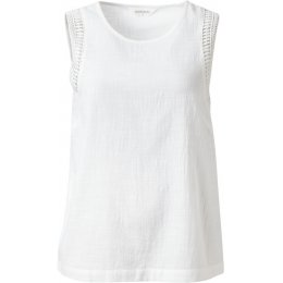 Nomads White Crochet Trim Vest