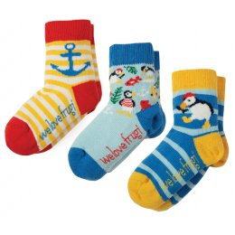 Frugi Little Puffin Socks - Pack of 3