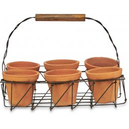 Jara Terracotta Planter Set