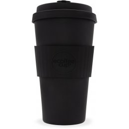 Ecoffee Reusable Bamboo Coffee Cup - Black - 475ml