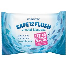 Natracare Safe to Flush Moist Tissues - 30 Wipes