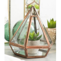 Copper Finish Geometric Planter