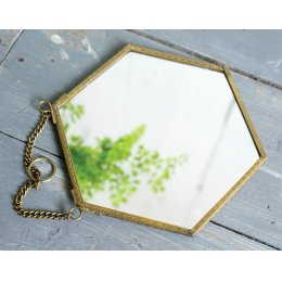 Hexagon Shaped Mirror