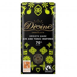 Divine 70 percent  Dark Chocolate Gin & Tonic Inspired Bar - 90g