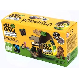 Ponchito Organic & Fairtrade Milk Chocolate Surprise Egg - Pack of 3