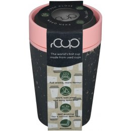 rCUP Black & Pink Reusable Coffee Cup - 227ml