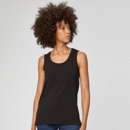 Thought Bamboo Base Layer Vest Top - Black