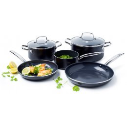 GreenPan Berlin Black 5 Piece Pan Set
