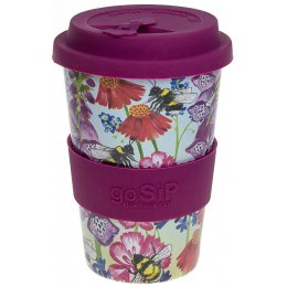 Rice Husk Reusable Coffee Cup - Busy Foxloves  - 400ml