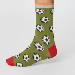 Thought Mens Sport Club Bamboo Socks - Football