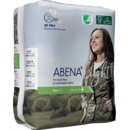 Abena Light Incontinence Pads - Mini - Pack of 20
