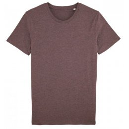 Mens Organic Cotton Round Neck Heather T-Shirt