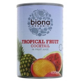 Biona Organic Tropical Fruit Cocktail - 400g