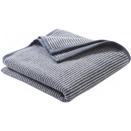 Barcelona Organic Cotton Shower Towel - Blue Stripe - 140 x 70cm
