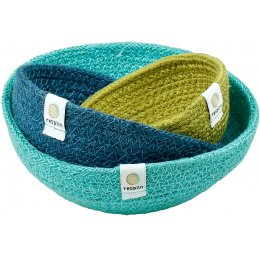 Respiin Mini Jute Bowl Set - Ocean