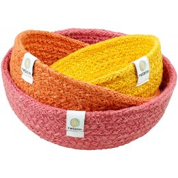 Respiin Mini Jute Bowl Set - Fire