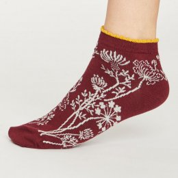 Thought Womens Wild Flowers Frill Bamboo Ankle Socks