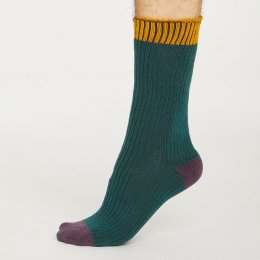 Thought Mens Deep Teal Walker Socks