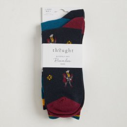 Thought Mens Henry VIII Bamboo Socks Pack - 2 Pairs