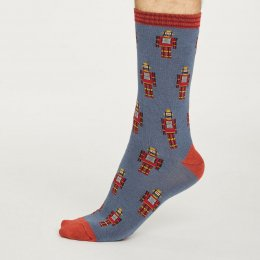 Thought Mens Robot Bamboo Socks