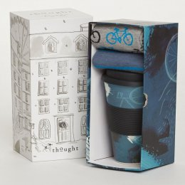 Thought Mens Cycler Bamboo Cup & Socks Gift Set