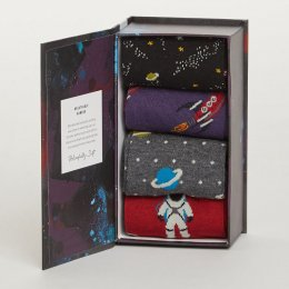 Thought Mens Galactic Bamboo Socks Gift Box