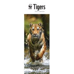 WWF Tigers 2020 Slim Wall Calendar