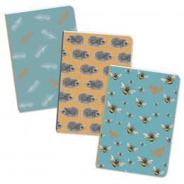 RSPB Mini A6 Notebooks - Set of 3