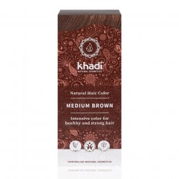 Khadi Herbal Hair Colour - Medium Brown - 100g