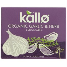 Kallo Garlic & Herb Stock Cubes - 66g