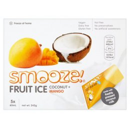 Smooze Mango & Coconut Fruit Ice - Pack of 5