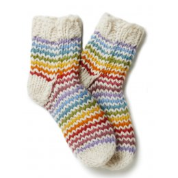 Womens Greenwich Village Socks - Cream