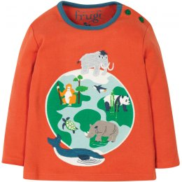 Frugi Button Globe Applique Top