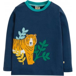 Frugi Adventure Tiger Applique Top