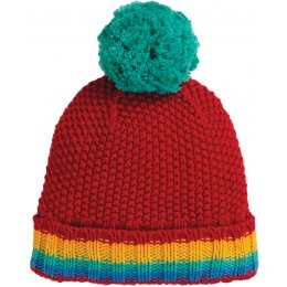 Frugi Rainbow Blizzard Bobble Hat