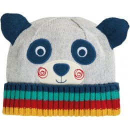 Frugi Friendly Face Panda Knitted Hat