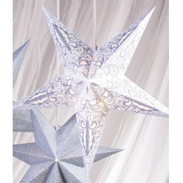 5 Point Dotty Floral Star Decoration