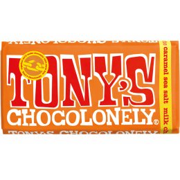 Tonys Chocolonely Milk Chocolate with Caramel and Sea Salt - 180g