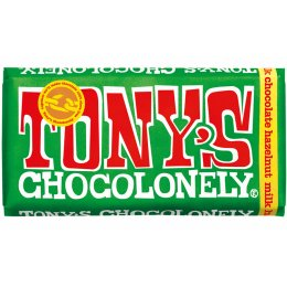 Tonys Chocolonely Milk Chocolate and Hazelnut - 180g