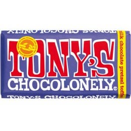 Tonys Chocolonely Dark Milk Chocolate with Pretzel and Toffee - 180g