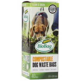 Biobag Compostable Dog Waste Bag - Roll of 40