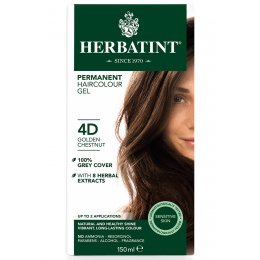 Herbatint Permanent Hair Dye - 4D Golden Chestnut - 150ml