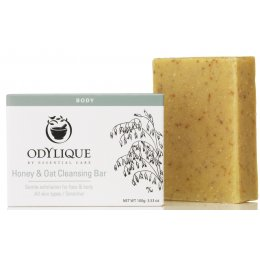 Odylique Honey & Oatmeal Cleansing Bar - 100g