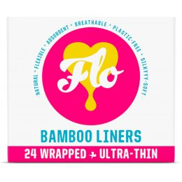 FLO Natural Bamboo Daily Ultra Thin Panty Liners - Pack of 24