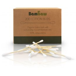 Bambaw Bamboo & Organic Cotton Buds - Pack of 200
