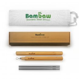 Bambaw Stainless Steel Straw Set & Case